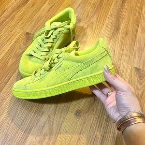 Puma Shoes | Neon Pumas | Poshmark